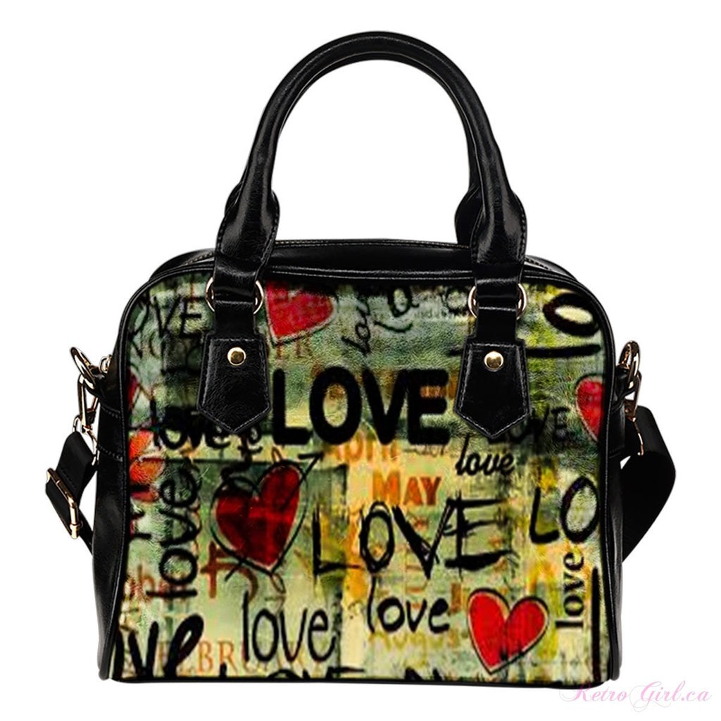 Fashionable Shoulder Handbag - Retro Love