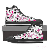 Women's High Top Canvas Shoe (Black) - Artsy Girl