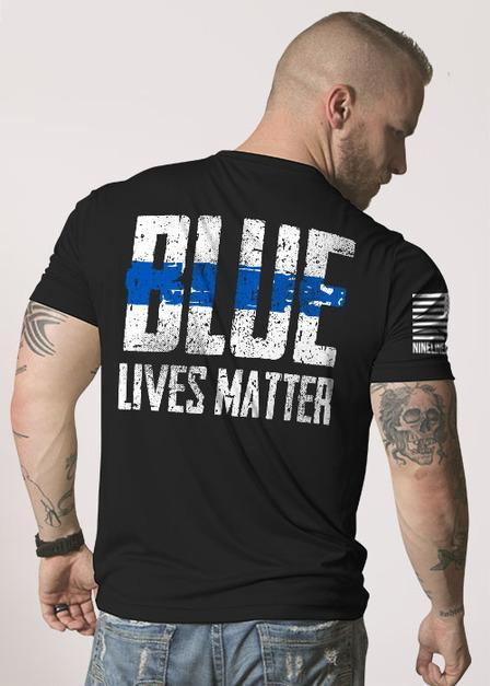 Blue Lives Matter Men's T Shirt