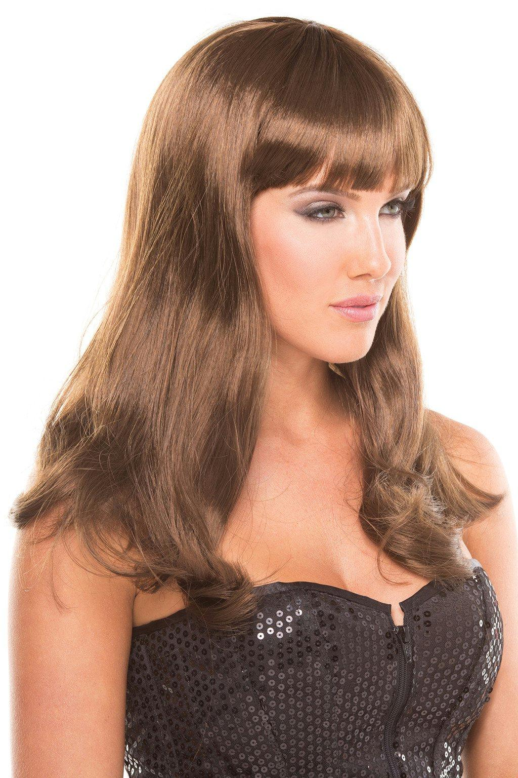 BW092BR Pop Diva Wig Brown