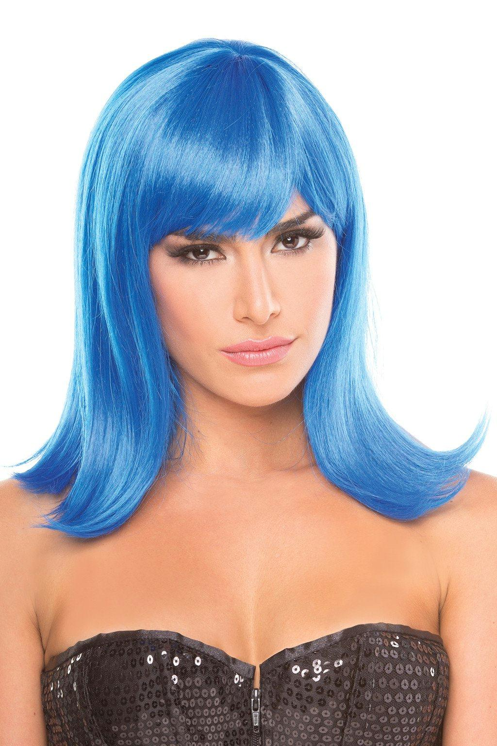 BW093DB Doll Wig Dark Blue
