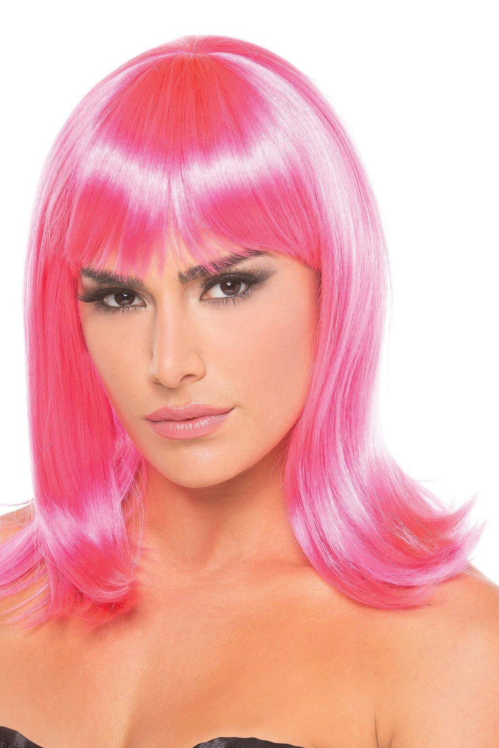 BW093HP Doll Wig Hot Pink