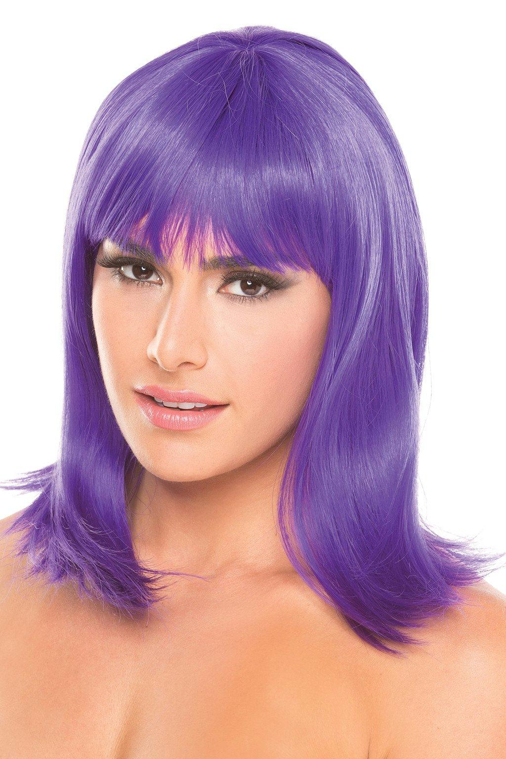 BW093PR Doll Wig Purple