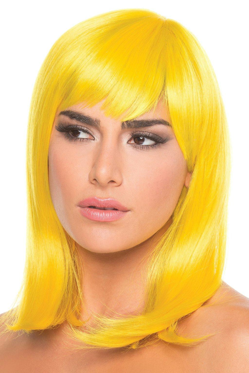 BW093YW Doll Wig Yellow