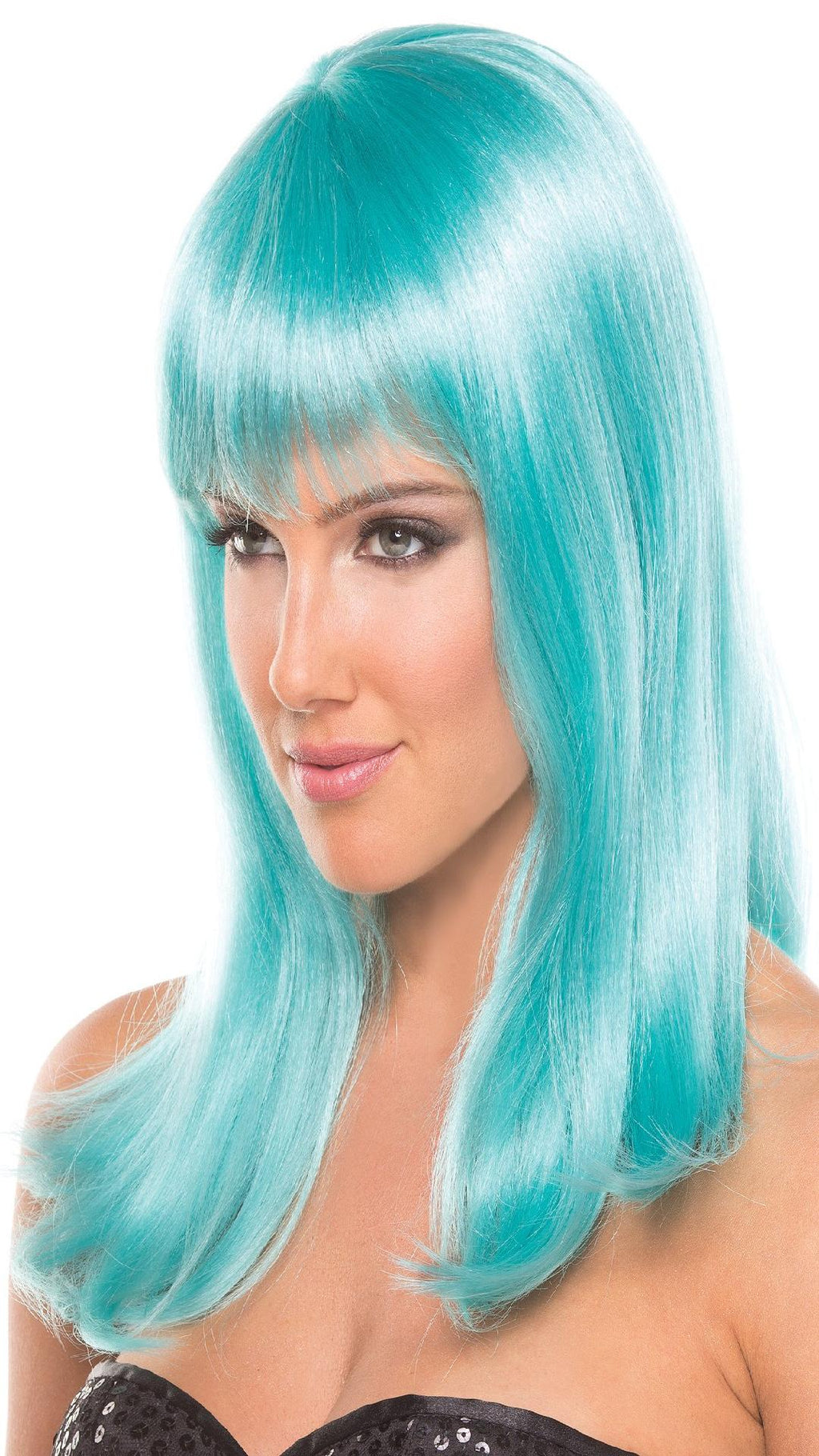 BW094LB Hollywood Wig Light Blue