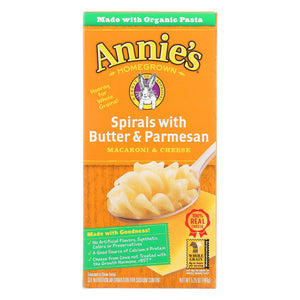 Annie's Homegrown Spirals With Butter And Parmesan Macaroni And Cheese - Case Of 12 - 5.25 Oz.