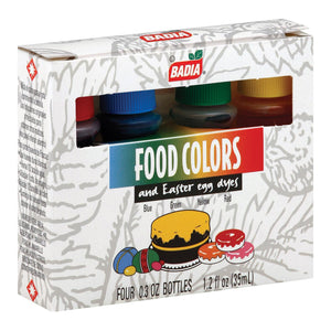 Badia Spices Food Colors - Case Of 12 - 1.2 Fl Oz.
