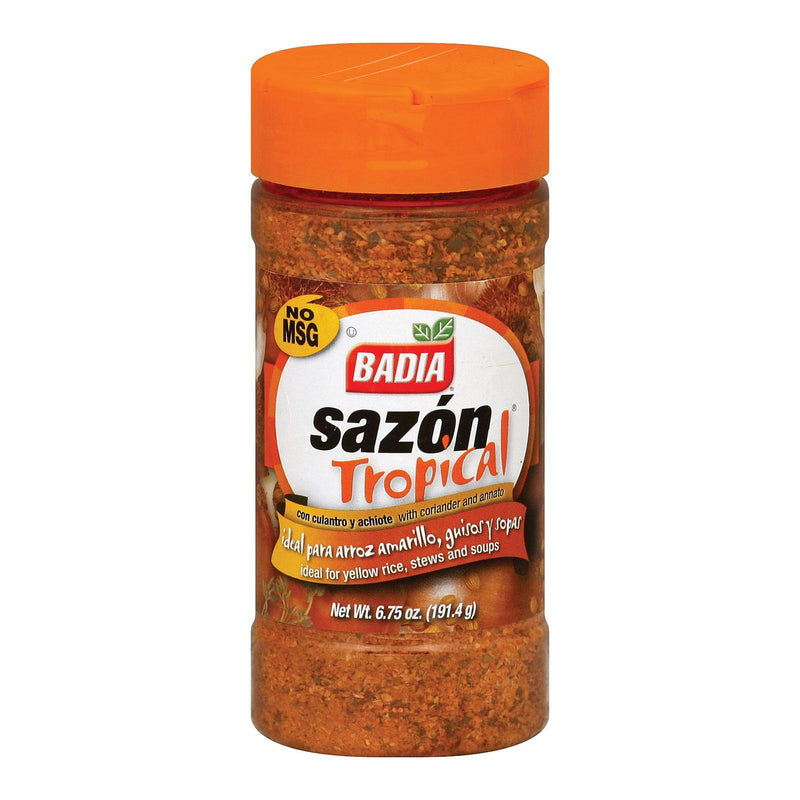 Badia Spices Sazon Tropical - Case Of 12 - 6.75 Oz.