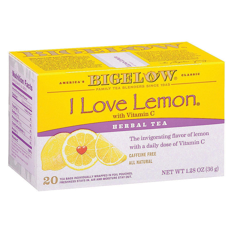 Bigelow Tea I Love Lemon Herb Tea - Case Of 6 - 20 Bag