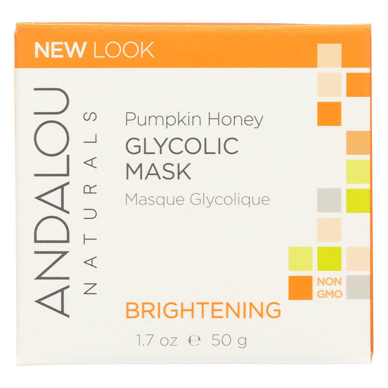 Andalou Naturals Glycolic Brightening Mask Pumpkin Honey - 1.7 Fl Oz