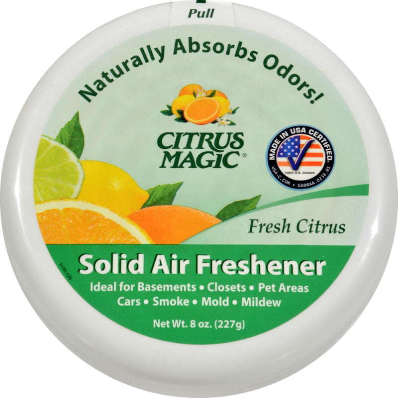 Citrus Magic Solid Air Freshener - 8 Oz - Case Of 6