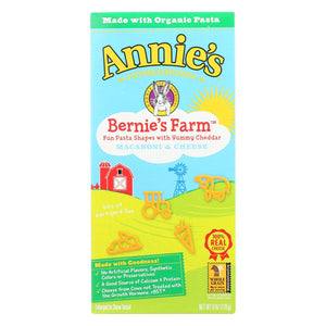 Annie's Homegrown Bernie's Farm Macaroni And Cheese Shapes - Case Of 12 - 6 Oz.