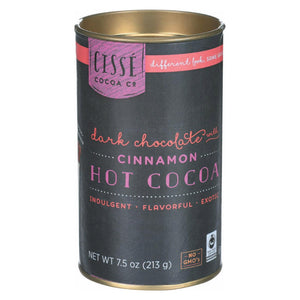 Cisse Hot Dark Chocolate With Cinnamon - Case Of 4 - 7.5 Oz