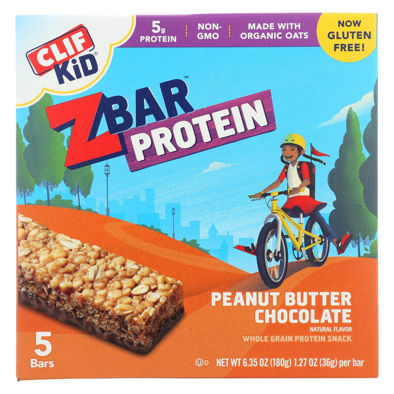 Clif Kid Zbar Organic Kid Zbar Protein - Peanut Butter Chocolate - Case Of 6 - 1.27 Oz.