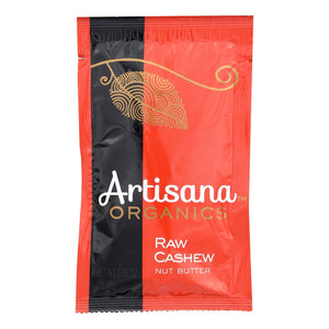 Artisana Organic Raw Cashew Butter - Squeeze Packs - 1.06 Oz - Case Of 10