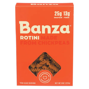Banza Pasta Chickpea Rotini - Case Of 6 - 8 Oz.