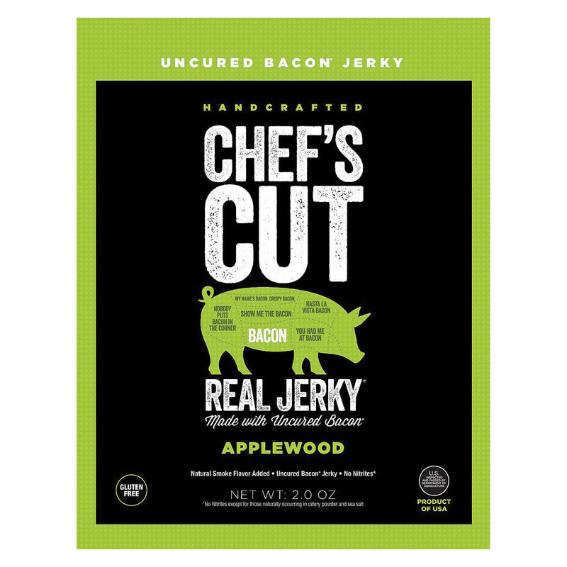 Chef's Cut Jerky Bacon - Applewood - Case Of 8 - 2 Oz