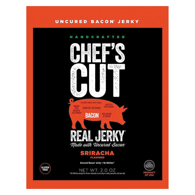 Chef's Cut Jerky Bacon - Sriracha - Case Of 8 - 2 Oz