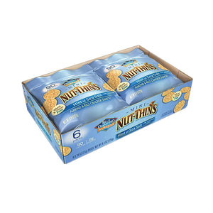 Blue Diamond Mini Nut Thins - Sea Salt - Case Of 6 - 6-.74 Oz