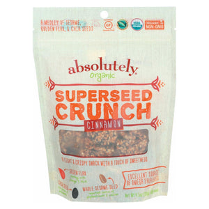 Absolutely Gluten Free Organic Superseed Crunch - Cinnamon - Case Of 6 - 4.5 Oz
