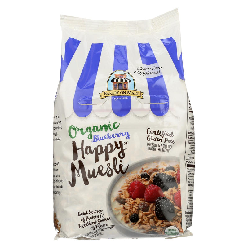 Bakery On Main Organic Happy Muesli - Blueberry - Case Of 4 - 14 Oz