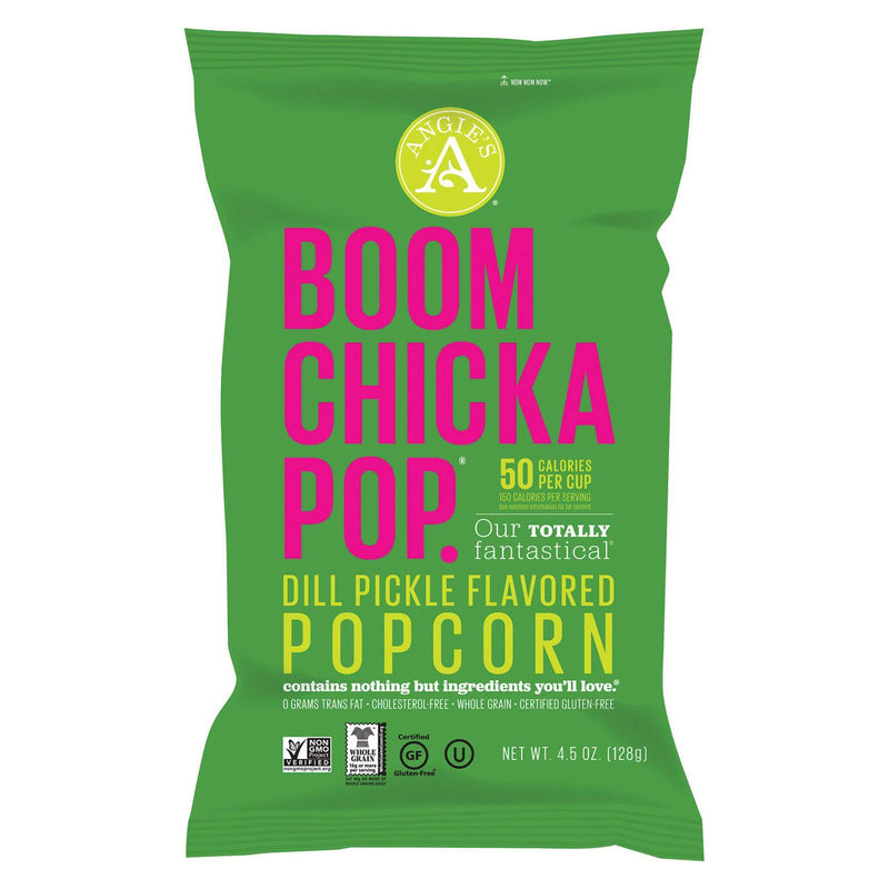 Angie's Kettle Corn Popcorn - Boom Chicka Pop - Dill Pickle - Case Of 12 - 4.5 Oz