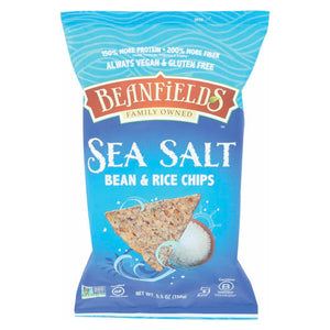 Beanfields Bean And Rice Chips - Sea Salt - Case Of 6 - 5.5 Oz