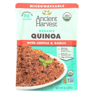 Ancient Harvest Organic Quinoa - With Lentils & Garlic - Case Of 12 - 8 Oz