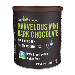 Castle Kitchen Foods Hot Chocolate - Marvelous Mint Dark Chocolate - Case Of 6 - 14 Oz