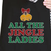 All The Jingle Ladies Black Canvas Bags