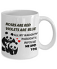 Image of Valentine's Day All My Naughty Thoughts Involve Me and You  Gift Mug