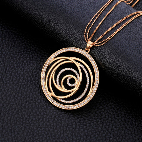 Big Round  Maxi Gold Necklace