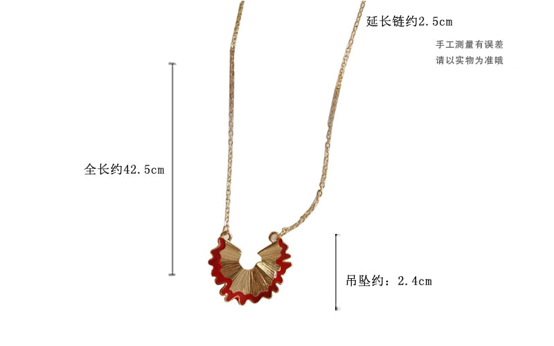 Lovely Pencil Crumbs Clavicle Chain Necklace