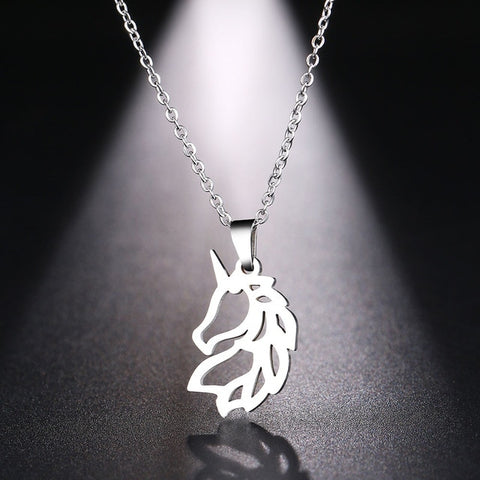 Horse Silver Necklace