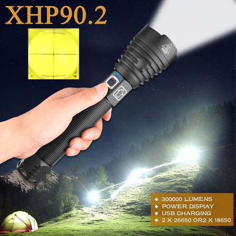 300000 lm Most Powerful Led Flashlight