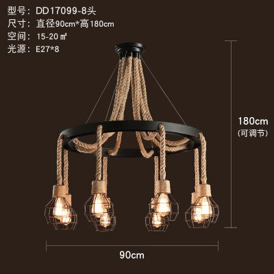 Loft Retro Chandelier Lighting
