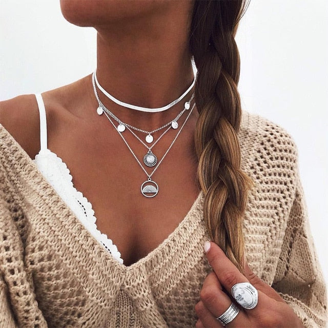 Bohemian Multi Layer Long Necklace