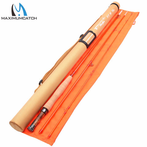 High Quality 5wt/6wt Blue / Orange / Fiberglass Fishing Rod With Cordura Tube