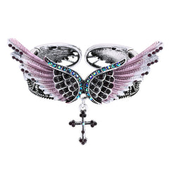 Image of Wings Cross Stretch Bracelet