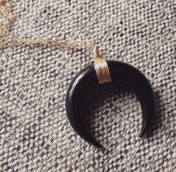 Big Horn Moon Choker Necklace With Chain
