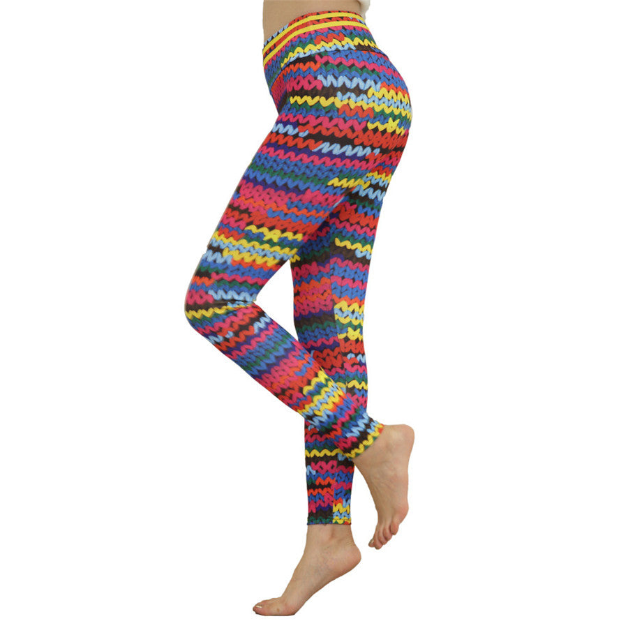 Print Ruched Leggins Sport Women Fitness Yoga Pants