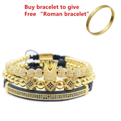 3pcs/set+Bangle Men Bracelet