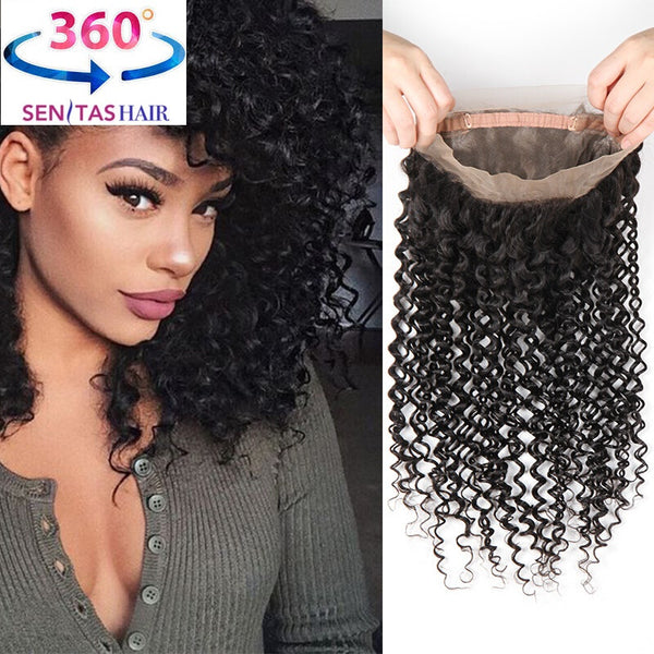 360 Lace Frontal Virgin Hair - Curly