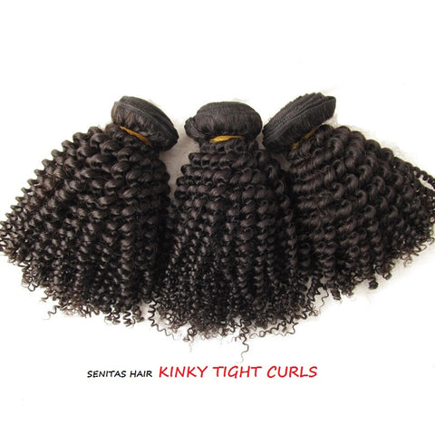 100% MONGOLIAN HAIR EXTENSTION - TIGHT KINKY CURLS - Senita Hair Extension Houston