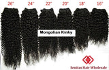 100% MONGOLIAN HAIR EXTENSTION - KINKY CURLS - Senita Hair Extension Houston