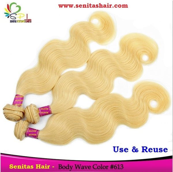 SENITAS BLONDE BODY WAVE HAIR - Senita Hair Extension Houston