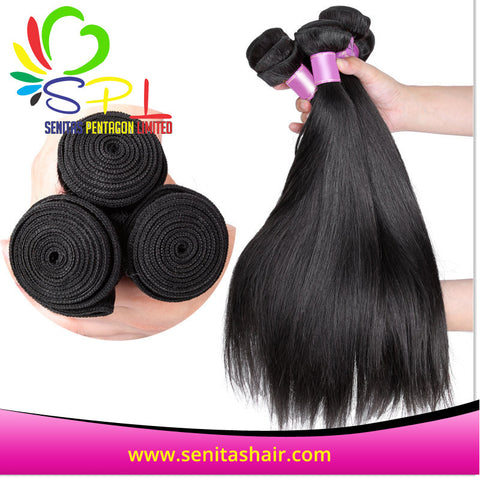 100% BRAZILIAN HAIR STRAIGHT - UNPROCESSED REMY HAIR - Senita Hair Extension Houston