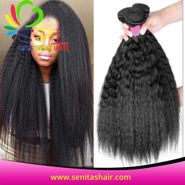 100% HOT SALE KINKY STRAIGHT BRAZILIAN REMY VIRGIN HAIR - Senita Hair Extension Houston