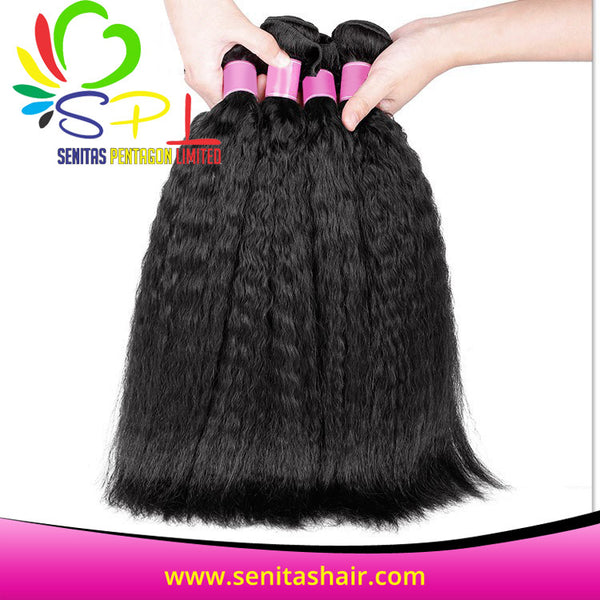 100% KINKY STRAIGHT BRAZILIAN VIRGIN HAIR - Senita Hair Extension Houston