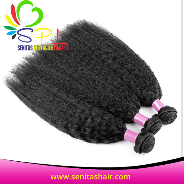 100% NEW ARRIVAL KINKY STRAIGHT BRAZILIAN VIRGIN HAIR - Senita Hair Extension Houston